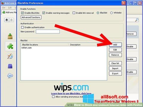 スクリーンショット uBlock Windows 8版