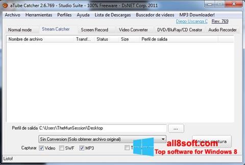 スクリーンショット aTube Catcher Windows 8版
