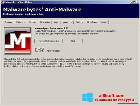 スクリーンショット Malwarebytes Anti-Malware Free Windows 8版