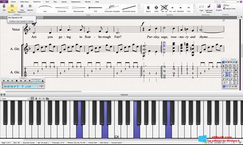 スクリーンショット Sibelius Windows 8版