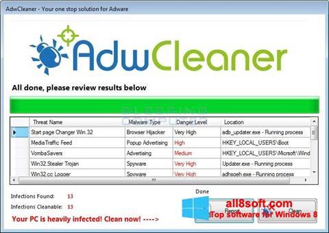 スクリーンショット AdwCleaner Windows 8版