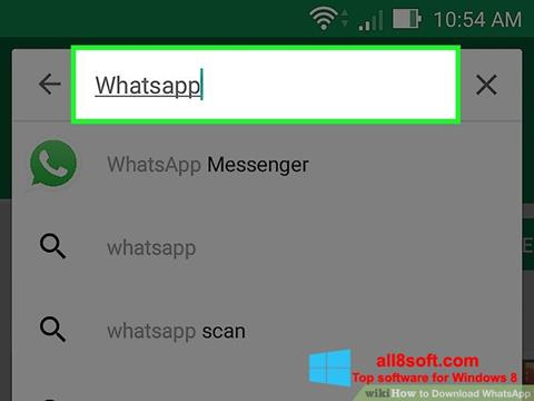 スクリーンショット WhatsApp Windows 8版