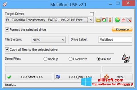 スクリーンショット Multi Boot USB Windows 8版