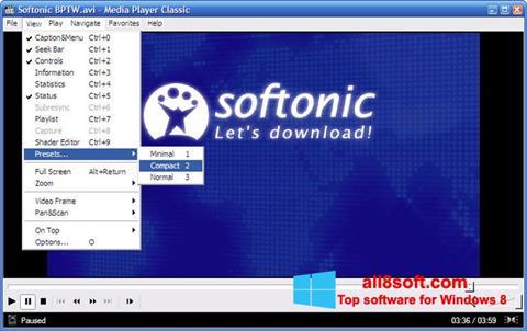 スクリーンショット Media Player Classic Windows 8版