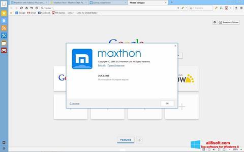 スクリーンショット Maxthon Windows 8版