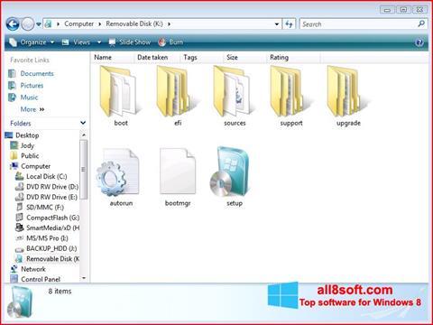 スクリーンショット Windows 7 USB DVD Download Tool Windows 8版