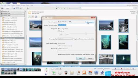 スクリーンショット Picasa Windows 8版
