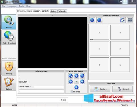 スクリーンショット webcamXP Windows 8版