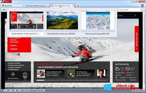 スクリーンショット Opera Windows 8版