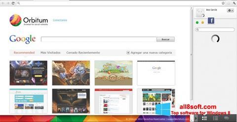 スクリーンショット Orbitum Windows 8版