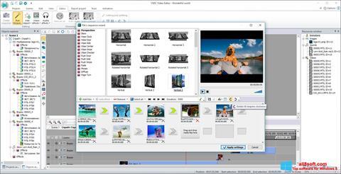 スクリーンショット VSDC Free Video Editor Windows 8版