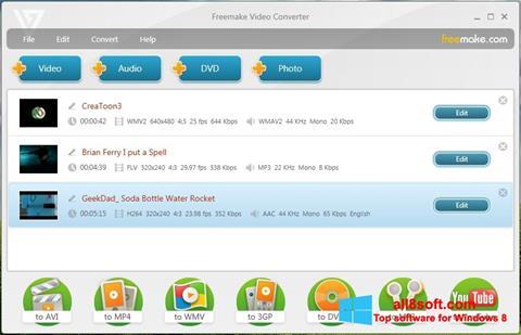 スクリーンショット Freemake Video Converter Windows 8版