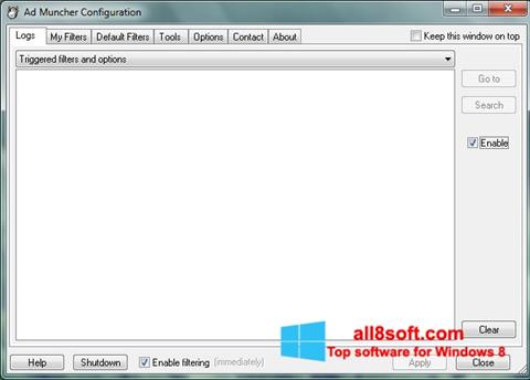 スクリーンショット Ad Muncher Windows 8版