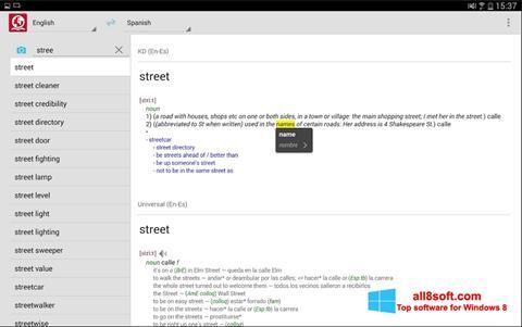 スクリーンショット ABBYY Lingvo Windows 8版