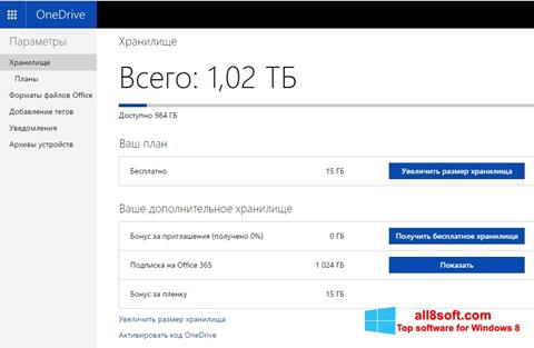 スクリーンショット OneDrive Windows 8版